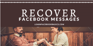How to retrieve deleted messages from Facebook messenger