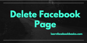 Delete Facebook Page Permanently Link